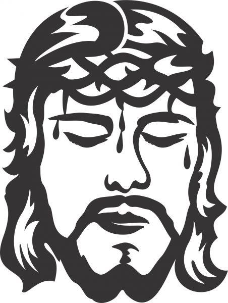 Armario Planejado Para Quarto Casal Pequeno ~ Adesivo O Rosto de Cristo 03 Jackdecor Adesivos